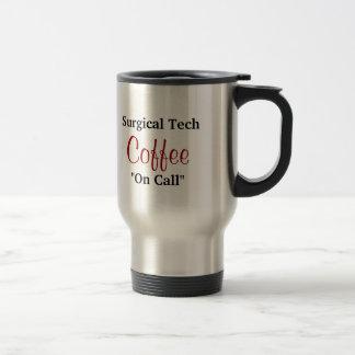 Café quirúrgico de la tecnología en llamada taza