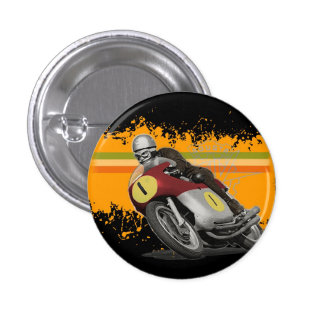 cafe racer 1 inch round button