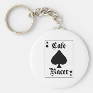 Cafe Racer Ace of Spades Basic Round Button Keychain