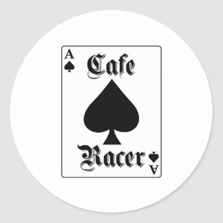 Cafe Racer Ace of Spades Classic Round Sticker