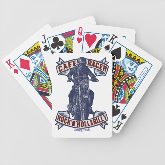 Cafe racer bicycle playing cards