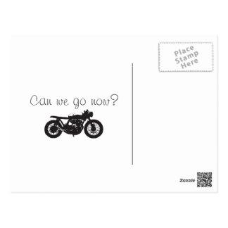Cafe Racer / Brat Motorcycle Vintage Cool Stencil Postcards