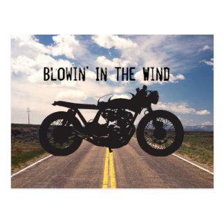 Cafe Racer / Brat Motorcycle Vintage Cool Stencil Post Cards