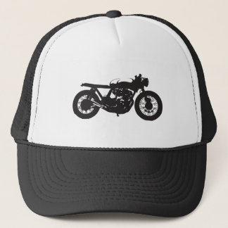Cafe Racer / Brat Motorcycle Vintage Cool Stencil Trucker Hat