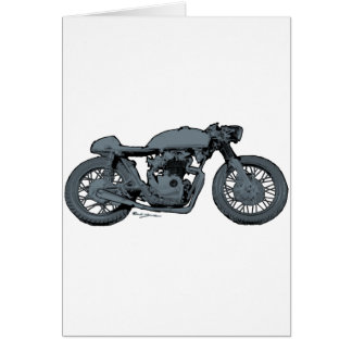 Cafe Racer Classic Grey Card