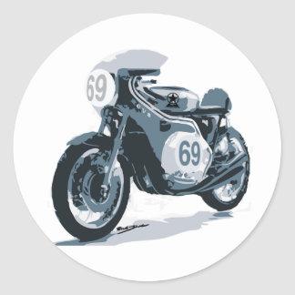 Cafe Racer Stickers Zazzle - Classic motorcycle custom stickers