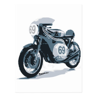 Cafe Racer Classic Motorcycle Post Card