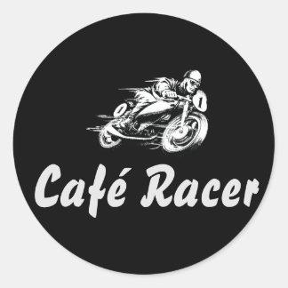Café Racer Classic Round Sticker