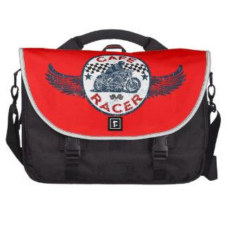 Cafe racer laptop messenger bag