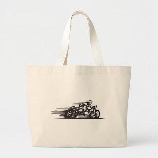 Cafe Racer Large Tote Bag