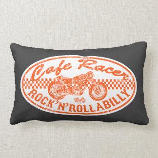Cafe racer lumbar pillow