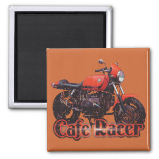 Cafe Racer Motorcycle Magnet