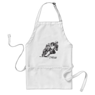 Cafe Racer Motorcycle Mean Lean Vintage Style Adult Apron