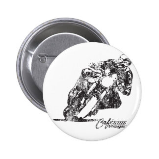 Cafe Racer Motorcycle Mean Lean Vintage Style Pinback Button