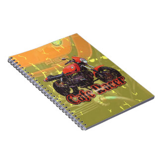 Cafe Racer Motorcycle Notebook
