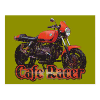 Cafe Racer Motorcycle Postcard