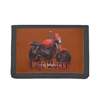 Cafe Racer Motorcycle Tri-fold Wallets