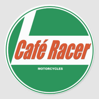 Café Racer Motorcycles Classic Round Sticker
