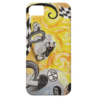 Cafe Racer - Painting of Vintage Motorcycle Racing iPhone 5 Case