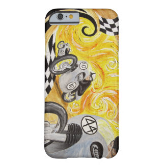 Cafe Racer - Painting of Vintage Motorcycle Racing Barely There iPhone 6 Case