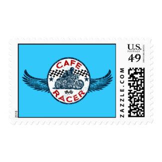 Cafe racer postage stamp