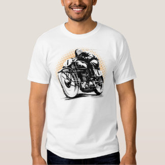 Cafe Racer Rider Motorcycle Tshirt