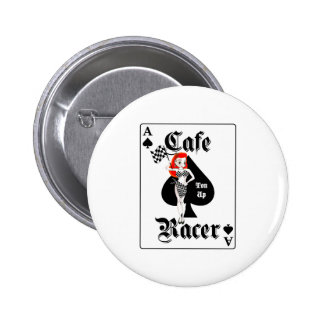 Cafe Racer Ton Up Redhead Button