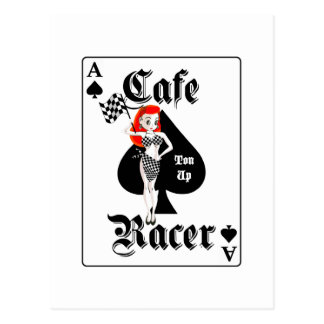 Cafe Racer Ton Up Redhead Postcard