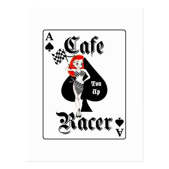 Cafe Racer Ton Up Redhead Postcard