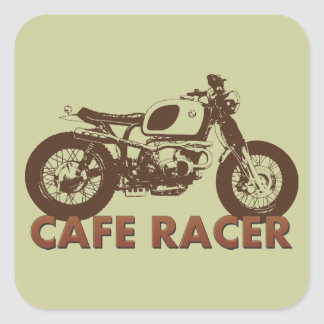 Cafe Racer Vintage Square Sticker