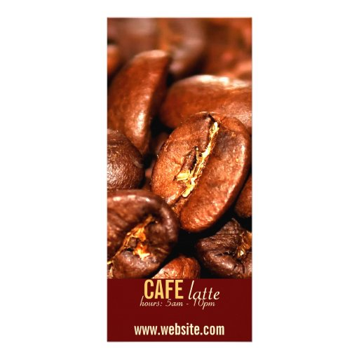 CAFE RACK CARD TEMPLATE