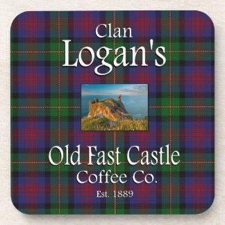 Café rápido viejo Co. del castillo de Logan del Posavasos De Bebidas