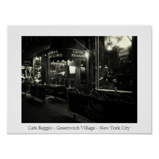 Cafe Reggio - Greenwich Village - New York City Posters