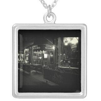 Cafe Reggio Square Pendant Necklace