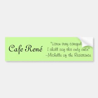 Café Rene-Michelle Pegatina Para Auto