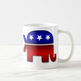Café republicano del logotipo del elefante de los taza clásica