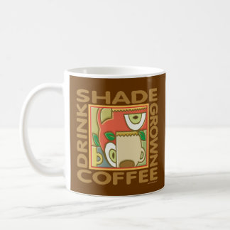 Café respetuoso del medio ambiente de la sombra taza de café