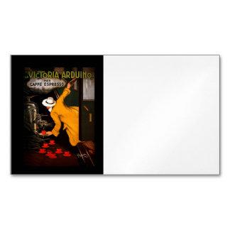 Café retro de Victoria-Arduino Tarjetas De Visita Magnéticas (paquete De 25)