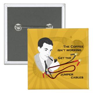 Café retro divertido del papá que dice el botón