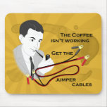 Café retro divertido del papá que dice Mousepad Tapete De Ratones