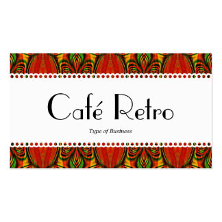 Café retro (horneado a la crema y con pan rallado) tarjetas de visita