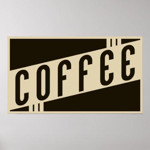 café retro poster
