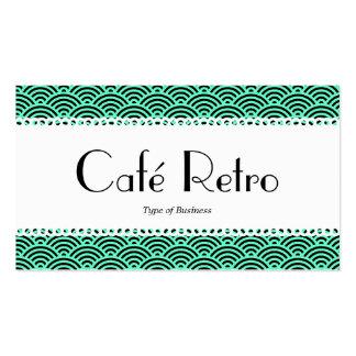 Café Retro (Scalloped) - Fish Scale Pattern Business Card