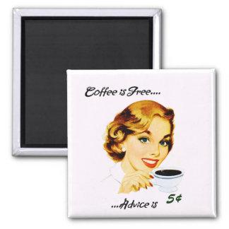 Café retro y consejo del ama de casa imanes