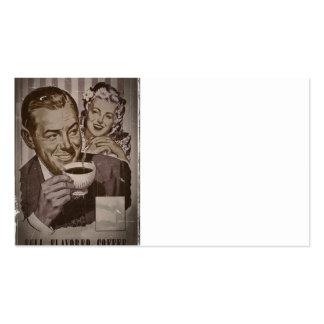 Café retro y el ligar tarjetas de visita