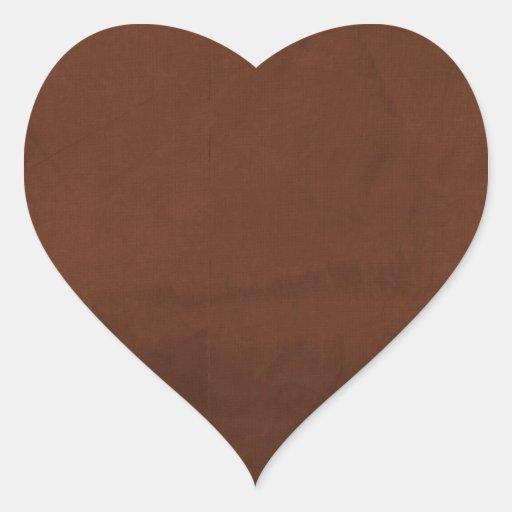 CAFÉ RICO quebradizo BROWN TE de la hoja paper02 Pegatina En Forma De Corazón