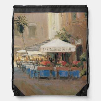 Café Roma Drawstring Bag