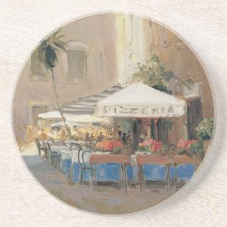 Café Roma Sandstone Coaster
