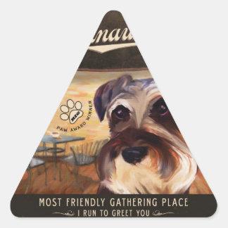 Cafe Schnauzer Triangle Stickers