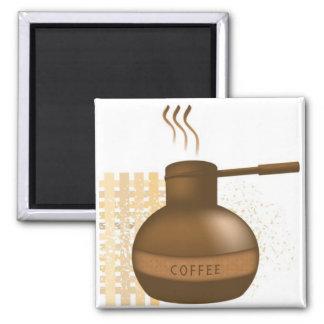 Café sólo imán cuadrado